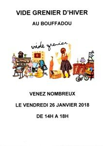 LE BOUFFADOU VIDE GRENIER D'HIVER 2018