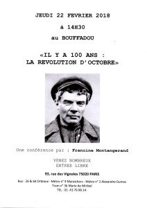 IL Y A 100 ANS LA REVOLUTION D'OCTOBRE