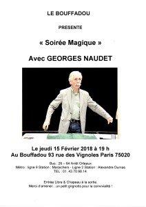 SOIREE MAGIQUE DU 15 FEVRIER 2018