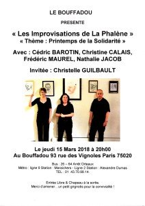 SOIREE DU 15 MARS 2018 IMPROVISATIONS