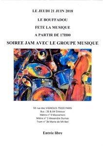 FETE DE LA MUSIQUE LE 21 JUIN 2018 FIN APRES MIDI
