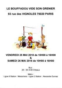 VIDE-GRENIER DU LE BOUFFADOU  25 & 26 MAI 2018