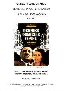 AFFICHE CINEMARC 17 AOUT 2018 DERNIER DOMICILE CONNU