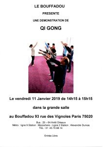DEMONSTRATION DE QI GONG 11 JANVIER 2019