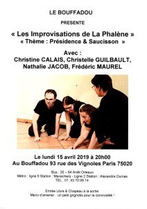 SOIREE DU 15 AVRIL 2019 IMPROVISATIONS