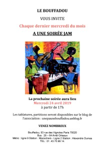 SOIREE JAM LE 24 AVRIL2019