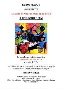 SOIREE JAM LE 29 MAI 2019