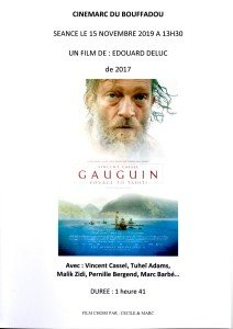 AFFICHE CINEMARC 15 NOVEMBRE 2019 GAUGUIN - VOYAGE DE TAHITI