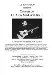 SOIREE DU 19 NOVEMBRE 2019 CLARA MALATERRE - Copie