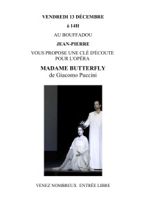 Affichette.CléDecoute.Madame Butterfly