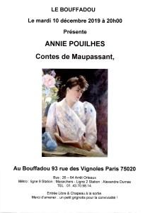 SOIREE CONTES DU 10 DECEMBRE 2019 ANNIE POUILHES
