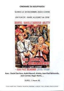 AFFICHE CINEMARC 18 DECEMBRE 2020 UN DROLE DE DIMANCHE