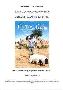 AFFICHE CINEMARC 20 NOVEMBRE 2020 LE COCHON DE GAZA