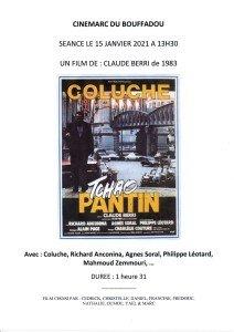 AFFICHE CINEMARC 15 JANVIER 2021 TCHAO PANTIN
