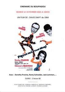 AFFICHE CINEMARC 19 FEVRIER 2021 PRETE-MOI TON MARI