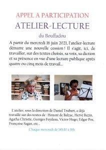 APPEL A PARTICIPATION atelier-lecture
