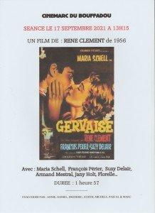 AFFICHE CINEMARC 17 SEPTEMBRE 2021 GERVAISE