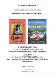 AFFICHE CINEMARC 15 OCTOBRE 2021 APRES-MIDI AVEC JEAN-PAUL BELMONDO